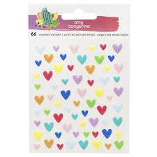 American Crafts - Amy Tangerine - Epoxy Heart Stickers: Stay Sweet